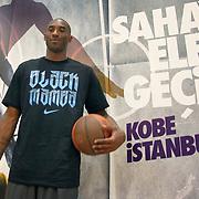 NBA basketball player Kobe BRYANT and Turkish Basketball Club Anadolu Efes young team players durig their training at Anadolu Efes Sports Club at Istanbul, Turkey on 26 September 2011. Photo by TURKPIX