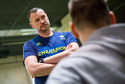 Rado Trifunovic during Practice session of Slovenian National basketball team before FIBA Basketball World Cup China 2019 Qualifications against Belarus, on November 20, 2017 in Arena Stozice, Ljubljana, Slovenia. Photo by Vid Ponikvar / Sportida