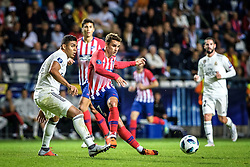 August 15, 2018 - Tallinn, Estonia - Antoine Griezmann of Atletico Madrid in action at UEFA Super Cup 2018 in Tallinn..The UEFA Super Cup 2018 was played between Real Madrid and Atletico Madrid. Atletico Madrid won the match 4-2 during extra time after and took the trophy after drawing at 2-2 during the first 90 minute of game play. (Credit Image: © Hendrik Osula/SOPA Images via ZUMA Wire)