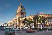 El Capitolio, Havana. Designed along the lines of The Capitol building in Washington it was the home or the Cuban government until the revolution and is now home to the Cuban Academy of Sciences