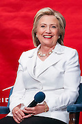 Former Secretary of State and Democratic presidential candidate Hillary Rodham Clinton discusses community college apprenticeship programs at Trident Tech June 17, 2015 in North Charleston, South Carolina.
