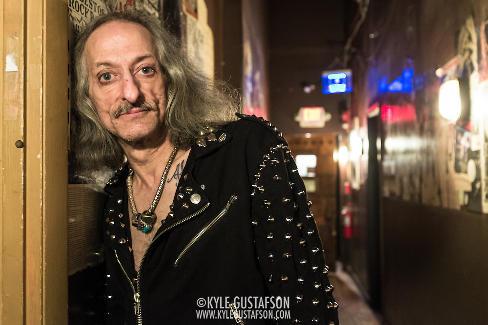 WASHINGTON, DC - October 3rd, 2015 - Bobby Liebling, lead singer of Pentagram, poses for a portrait before the band's show at the Rock N Roll Hotel in Washington, D.C. (Photo by Kyle Gustafson / For The Washington Post)