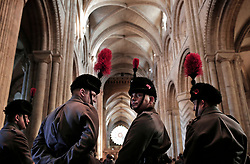 © Under licence to London News Pictures. 12/11/2017 Buglers from the Durham Army Cadet Force during the Remebrance Day service at Durham Cathedral, County Durham, UK. Photo Credit: Stuart Boulton/LNP