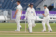 WICKET - Gavin Griffiths has Liam Trevaskis LBW during the Specsavers County Champ Div 2 match between Durham County Cricket Club and Leicestershire County Cricket Club at the Emirates Durham ICG Ground, Chester-le-Street, United Kingdom on 19 August 2019.