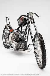 Chase N It, a custom motorcycle built from a 1981 Shovelhead, by David Rolen. Photographed by Michael Lichter in Charlotte, SC, USA on 1/24/19. ©2019 Michael Lichter.