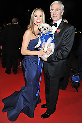 PAUL O'GRADY and AMANDA HOLDEN at the Battersea Dogs & Cats Home Collars & Coats Gala Ball held at Battersea Evolution, Battersea Park, London SW8 on 8th November 2012.
