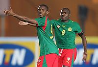 Fotball<br /> Africa Nations Cup 2006<br /> 21.01.2006<br /> Foto: Witters/Digitalsport<br /> NORWAY ONLY<br /> <br /> v.l. Samuel Eto'o Kamerun, Fotso Geremi Sorele Njitap Kamerun<br /> <br /> Kamrun v Angola