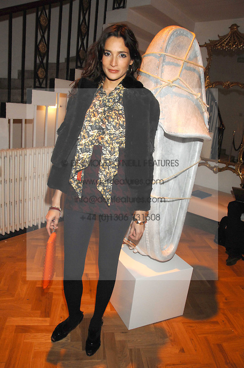 ASTRID MUNOZ at the TOD's Art Plus Film Party 2008 hosted by The Whitechapel Art Gallery at a former church at 1 Marylebone Road, London NW1 on 6th March 2008.<br />