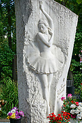 The grave of the Soviet Russian ballerina Galina Ulanova at Novodevichy Cemetery in Moscow, Russia