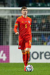 TALLINN, ESTONIA - Monday, October 11, 2021: Wales' Chris Mepham during the FIFA World Cup Qatar 2022 Qualifying Group E match between Estonia and Wales at the A. Le Coq Arena. Wales won 1-0. (Pic by David Rawcliffe/Propaganda)