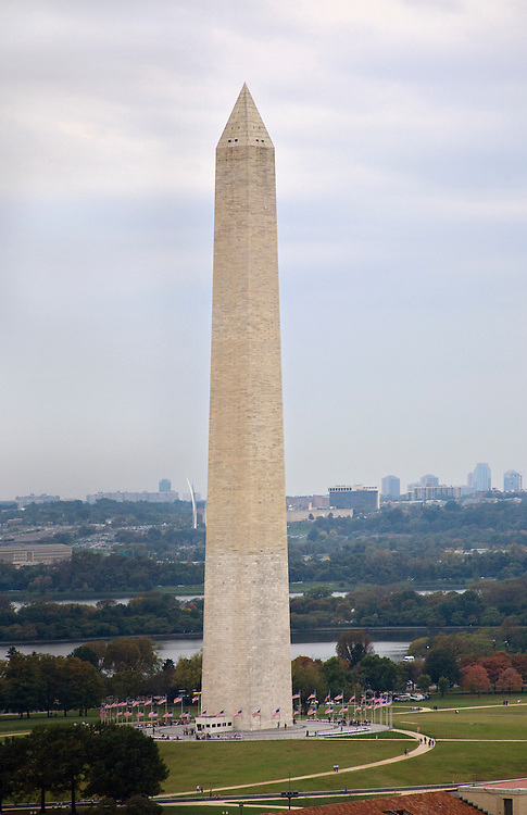 The Washington Monument seen from the Old Post Office Tower.