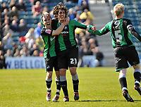 Photo: Tony Oudot/Richard Lane Photography. <br /> Gilingham Town v Swansea City. Coca-Cola League One. 12/04/2008. <br /> GOAL! Guillem Bauza celebrates his second goal for Swansea