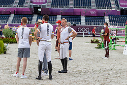 Wathelet Gregory, BEL, Guery Jerome, NED, Bruynseels Niels, BEL<br /> Olympic Games Tokyo 2021<br /> © Hippo Foto - Dirk Caremans<br /> 07/08/2021