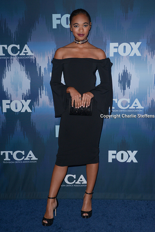 CHANDLER KINNEY at the Fox Winter TCA 2017 All-Star Party at the Langham Hotel in Pasadena, California