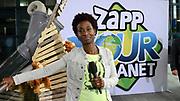 Zapp Your Planet: Ga voor Aap! Zapp Your Planet is de actie van de publieke kinderzender NPO Zapp en het Wereld Natuur Fonds (WNF) voor de orang-oetans in Borneo.De Maratonuitzending vond plaats in Beeld en Geluid in Hilversum  <br /> <br /> Op de foto: Milouska Meulens