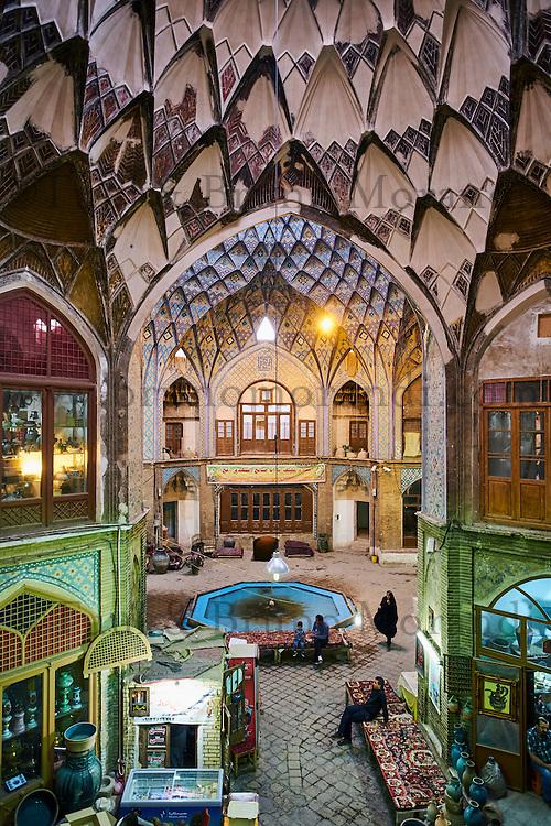 Iran, Province d'Ispahan, Kashan, le bazaar // Iran, Isfahan province, Kashan city, the bazaar