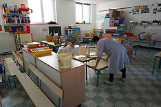 Disinfection Of Nursery School - Lille - 8 May 2020