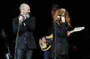 Michael Stipe and Patti Smith perform at The Music of R.E.M. at Carnegie Hall, a tribute concert to benefit musical education programs for underprivileged youth.
