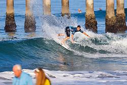 Deivid Silva (BRA) advances to Round 3 of the 2018 VANS US Open of Surfing after winning Heat 9 of Round 2 at Huntington Beach, California, USA.
