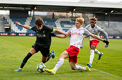 GRÖDIG, AUSTRIA - Tuesday, December 10, 2019: Liverpool's Neco Williams (L) during the final UEFA Youth League Group E match between FC Salzburg and Liverpool FC at the Untersberg-Arena. (Pic by David Rawcliffe/Propaganda)