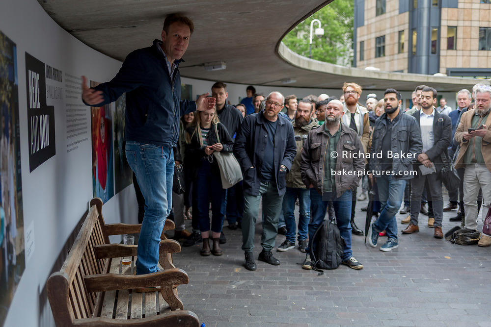 Exhibition of street portraits by photographer Niall McDiarmid at Museum of London, on 19th May 2017, in the City of London, England.