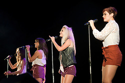 "Girl Band ""Vanquish"", Bee, Holly, Lizzy, Rianna perform at Meadowhalls Christmas lights switch on concert in Sheffield on Thursday evening 3 November 2011. Image © Paul David Drabble"