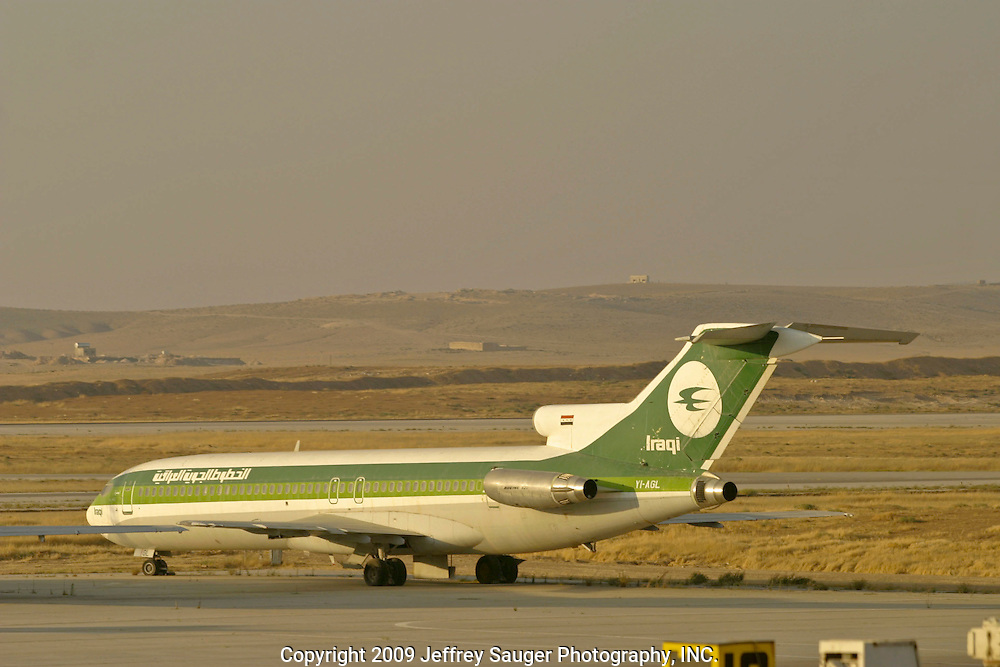 Abandoned Iraqi Airline jets are parked at Amman International Airport in Amman, Jordan on Wednesday, July 9, 2003. Since 1991, five of the jets were stranded at the airport as the Gulf War started.