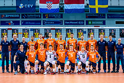 Teamphoto Netherlands in action during the CEV Eurovolley 2021 Qualifiers between Sweden and Netherlands at Topsporthall Omnisport on May 14, 2021 in Apeldoorn, Netherlands