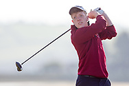 Daniel Raher (Dungarvan) on the 2nd tee during Round 2 of the Ulster Boys Championship at Donegal Golf Club, Murvagh, Donegal, Co Donegal on Thursday 25th April 2019.<br /> Picture:  Thos Caffrey / www.golffile.ie
