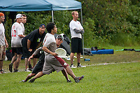 GLUM vs. Fig Jam in the Masters Final of the 2009 Canadian Ultimate Championships in Winnipeg, Manitoba.  GLUM defeated Fig Jam.<br /> <br /> ©2009, Sean Phillips<br /> http://www.Sean-Phillips.com