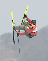 PYEONGCHANG, Feb. 18, 2018  Alex Beaulieu-Marchand of Canada competes during the men's ski slopestyle of freestyle skiing at the 2018 PyeongChang Winter Olympic Games, at Phoenix Snow Park, South Korea, on Feb. 18, 2018. Alex Beaulieu-Marchand won the bronze medal with 92.40 points. (Credit Image: © Wu Zhuang/Xinhua via ZUMA Wire)