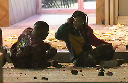 """*PREMIUM EXCLUSIVE* Jamie Foxx and Joseph Gordon-Levitt are thrown from an exploding building as they shoot an action scene together for the first time for their new Netflix movie 'Power'. Foxx could be seen with blood on his had as he was being dragged out of a building by Joseph Gordon-Levitt who plays a cop. In this scene, there is a huge explosion which rocks the building causing the two to go flying and hit the ground. In one shot, a severed limb could be seen dangling above Josephs head before dropping to the ground. Gordon-Levitt's character could be seen wearing an NFL """"Saints' shirt with number 37 'Gleason'. this was a salute to former New Orleans Saints Safety player Steve Gleason. Gleason is especially well known for his blocked punt in a 2006 game that became a symbol of recovery in New Orleans in the team's first home game after Hurricane Katrina. In 2011, he revealed that he was battling amyotrophic lateral sclerosis (ALS), commonly known as Lou Gehrig's disease. His experiences while living with the disease were captured on video over the course of a five-year period and are featured in the 2016 documentary, Gleason. The movie has been kept under wraps with very little information leaked. It is however thought to be a sci-fi movie about a drug epidemic that gives people a range of superpowers. The protagonist is believed to be a teenage actress who finds herself dealing the drug to help care for her family. Sources say Foxx will play a family man who has suffered a great loss and is desperate to trace the drug's supply line and find its designer. Joseph Gordon-Levitt also stars along side Foxx and is said to play a beat cop who takes law enforcement matters into his own hands. 25 Oct 2018 Pictured: Jamie Foxx, Dominique Fishback. Photo credit: MEGA TheMegaAgency.com +1 888 505 6342"""