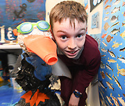 24/11/2019 repro free: Liam O Donnell from  Scoil Iosaif Naofa and Sam the Seagull  at the last day of the Galway Science and Technology Festival  at NUI Galway where over 20,000 people attended exhibition stands  from schools to Multinational Companies . Photo:Andrew Downes, xposure