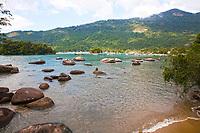 in the beautiful island of ilha grande near rio de janeiro in brazil