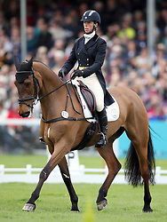 Great Britain's Emily Philp on Camembert competes in the dressage during day three of the 2019 Mitsubishi Motors Badminton Horse Trials at The Badminton Estate, Gloucestershire.