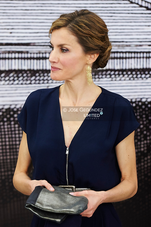 Queen Letizia of Spain attended the Opening of the exhibition 'Teresa de Jesus: The proof of my truth' at National Library on March 11, 2015 in Madrid