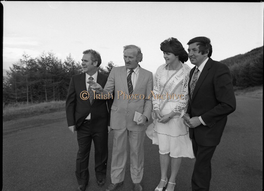 "The Carlingford Oyster Festival.1982.19.08.1982..08.19.1982.19th August 1982..Pictures and Images of the Carlingford Oyster Festival... The Minister For Fisheries and Forestry Mr Brendan Daly officially opened  The Carlingford Oyster Festival. The Chairman of the organising committee was Mr. Joe McKevitt..""The Oyster Pearl"" was Ms Deirdre McGrath."