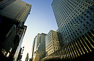 New York. the Mobil building on 42nd street  New York  Usa /  la 42 em rue et le Mobil building  New York  Usa