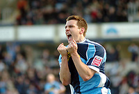 Photo: Leigh Quinnell.<br /> Wycombe Wanderers v Shrewsbury Town. Coca Cola League 2. 11/03/2006. Matt Bloomfield celebrates his goal for Wycombe.