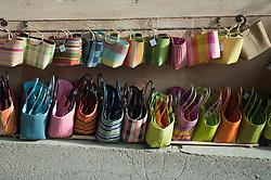colorful handbags outdoors