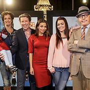 NLD/Amsterdam/20150303 - (VLNR) Mpop iss Izzy, Lenette van Dongen, Henkjan Smits, Georgina Verbaan, Andre van Duin en Kim-Lian van der Meij tijdens de presentatie van het nieuwe SBS6 TV-programma Popster.