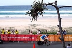 Scotland's Katie Archibald in action during the Women's Individual Time Trial at Currumbin Beachfront on day six of the 2018 Commonwealth Games in the Gold Coast, Australia.