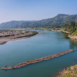 Myanmar - Mindat Area Chin villages along the Lay Mro River (Rakhine State)