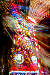 """""""Reno Lights 7"""" - The Grand Sierra Resort photographed in Reno, Nevada. The abstract effect was obtained in camera by long exposure mixed with intentional camera movement."""