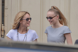 Vanessa Paradis and Lily-Rose Depp arriving at the Chanel show during Haute Couture Paris Fashion Week Fall/Winter 2018/19 in Paris, France on July 03, 2018. Photo by Julien Reynaud/APS-Medias/ABACAPRESS.COM