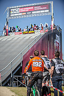 #192 (VAN DER BURG Dave) NED during practice of Round 3 at the 2018 UCI BMX Superscross World Cup in Papendal, The Netherlands