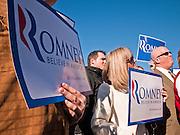 06 DECEMBER 2011 - PARADISE VALLEY, AZ: Mitt Romney supporters at Hermosa Inn Tuesday.  Former Vice President Dan Quayle endorsed Republic Presidential hopeful Mitt Romney at the Hermosa Inn in Paradise Valley Tuesday.   PHOTO BY JACK KURTZ