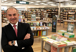 March 26, 2019 - Rochester Hills, MI, USA - Frank Morabito, the Vice President of Stores at Barnes & Noble inside the new and different looking store at The Village of Rochester Hills in Rochester Hills, Mich., on March 26, 2019. The 14,000 square foot store has a more wide open floor plan with lower profile bookshelves and more area for children's books. (Credit Image: © Eric Seals/Detroit Free Press/TNS via ZUMA Wire)
