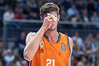 Valencia Basket Tibor Pleiss injured during Turkish Airlines Euroleague match between Real Madrid and Valencia Basket at Wizink Center in Madrid, Spain. December 19, 2017. (ALTERPHOTOS/Borja B.Hojas)