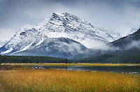Mount Patterson from Upper Waterfowl Lake, Banff National Park  Alberta